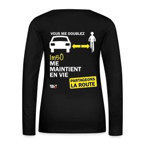 1m50-vie-noir - T-shirt manches longues Premium Femme