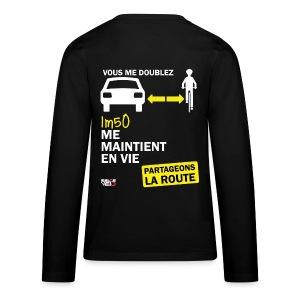 1m50-vie-noir - T-shirt manches longues Premium Ado