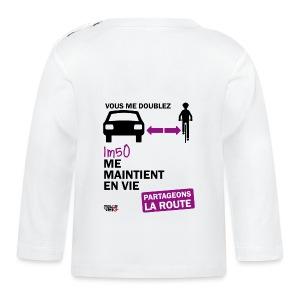 1m50-vie-blanc - T-shirt manches longues Bébé