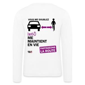1m50-vie-blanc - T-shirt manches longues Premium Enfant