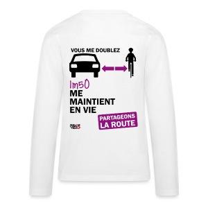 1m50-vie-blanc - T-shirt manches longues Premium Ado