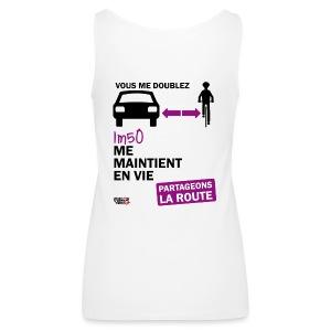 1m50-vie-blanc - Débardeur Premium Femme