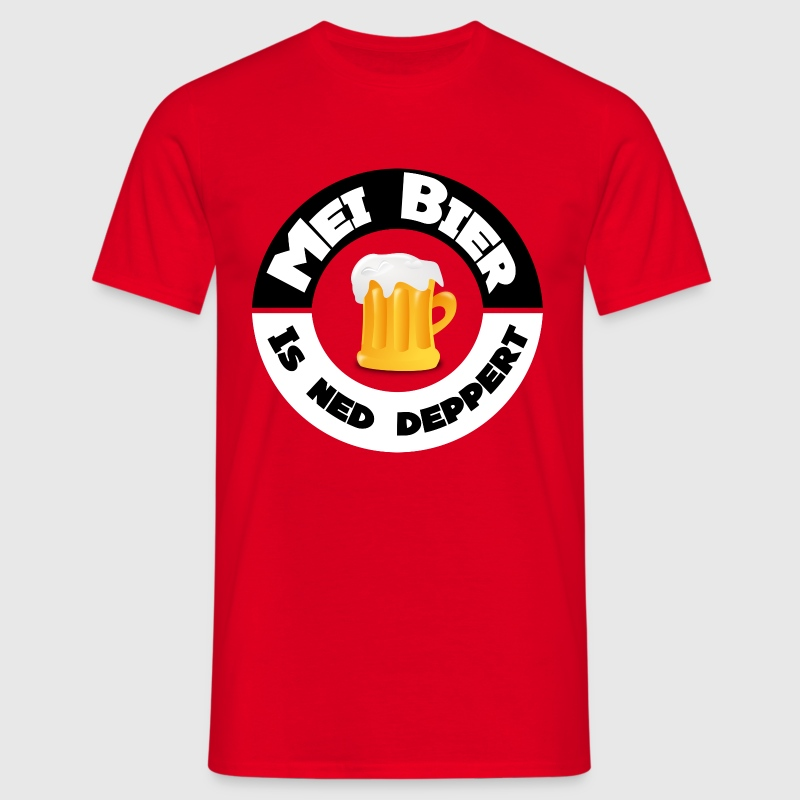 Mei Bier is ned deppert by Claudia-Moda - Männer T-Shirt