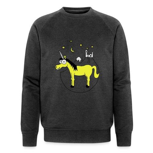 Einhorn mit Burg, Unicorn, Märchen, Pferd, Sterne T-Shirts - Männer Bio-Sweatshirt von Stanley & Stella