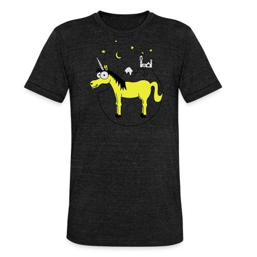 Einhorn mit Burg, Unicorn, Märchen, Pferd, Sterne T-Shirts - Unisex Tri-Blend T-Shirt von Bella + Canvas