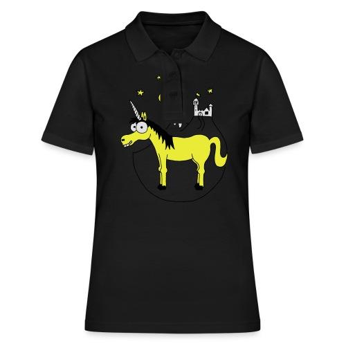 Einhorn mit Burg, Unicorn, Märchen, Pferd, Sterne T-Shirts - Frauen Polo Shirt