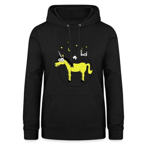 Einhorn mit Burg, Unicorn, Märchen, Pferd, Sterne T-Shirts - Frauen Hoodie