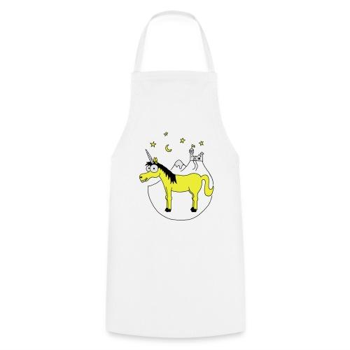 Einhorn mit Burg, Unicorn, Märchen, Pferd, Sterne T-Shirts - Kochschürze