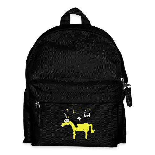 Einhorn mit Burg, Unicorn, Märchen, Pferd, Sterne T-Shirts - Kinder Rucksack