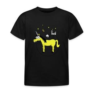 Einhorn mit Burg, Unicorn, Märchen, Pferd, Sterne T-Shirts - Kinder T-Shirt