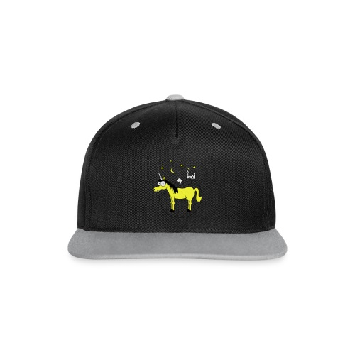 Einhorn mit Burg, Unicorn, Märchen, Pferd, Sterne T-Shirts - Kontrast Snapback Cap