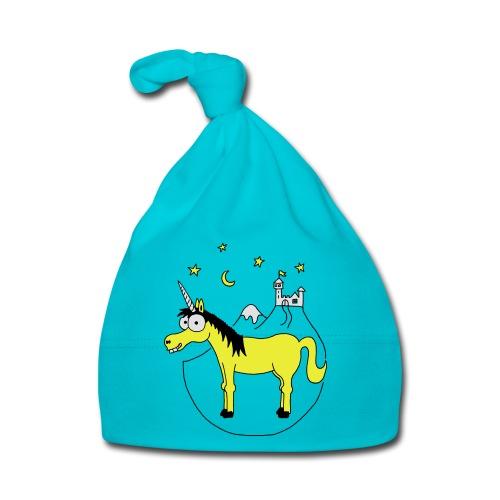 Einhorn mit Burg, Unicorn, Märchen, Pferd, Sterne T-Shirts - Baby Mütze
