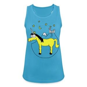 Einhorn mit Burg, Unicorn, Märchen, Pferd, Sterne T-Shirts - Frauen Tank Top atmungsaktiv