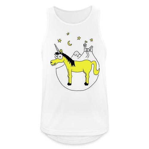 Einhorn mit Burg, Unicorn, Märchen, Pferd, Sterne T-Shirts - Männer Tank Top atmungsaktiv