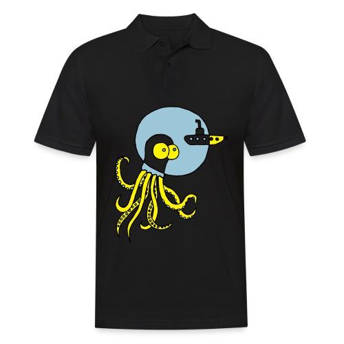 Tintenfisch trifft Uboot, Meer, tauchen, Boot T-Shirts - Männer Poloshirt
