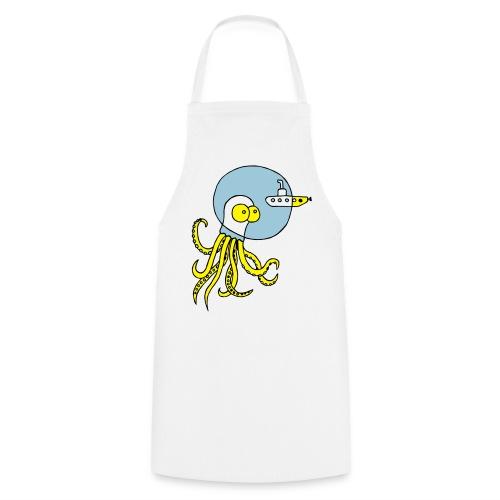 Tintenfisch trifft Uboot, Meer, tauchen, Boot T-Shirts - Kochschürze