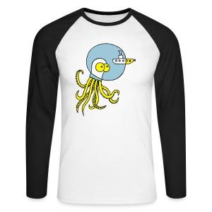 Tintenfisch trifft Uboot, Meer, tauchen, Boot T-Shirts - Männer Baseballshirt langarm