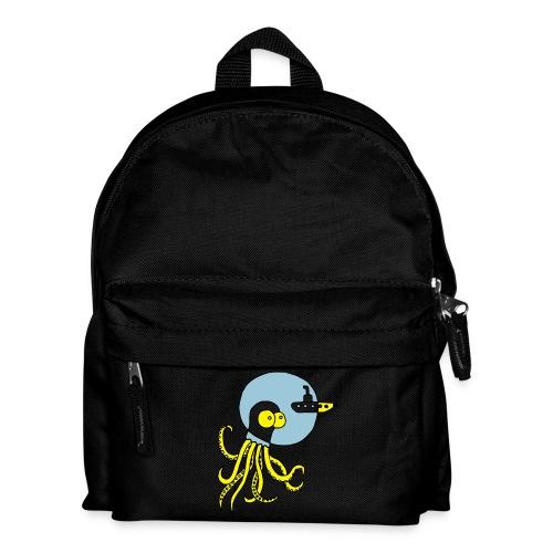 Tintenfisch trifft Uboot, Meer, tauchen, Boot T-Shirts - Kinder Rucksack
