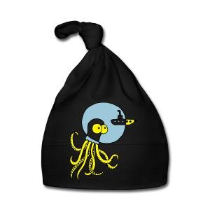 Tintenfisch trifft Uboot, Meer, tauchen, Boot T-Shirts - Baby Mütze
