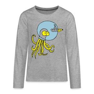 Tintenfisch trifft Uboot, Meer, tauchen, Boot T-Shirts - Teenager Premium Langarmshirt