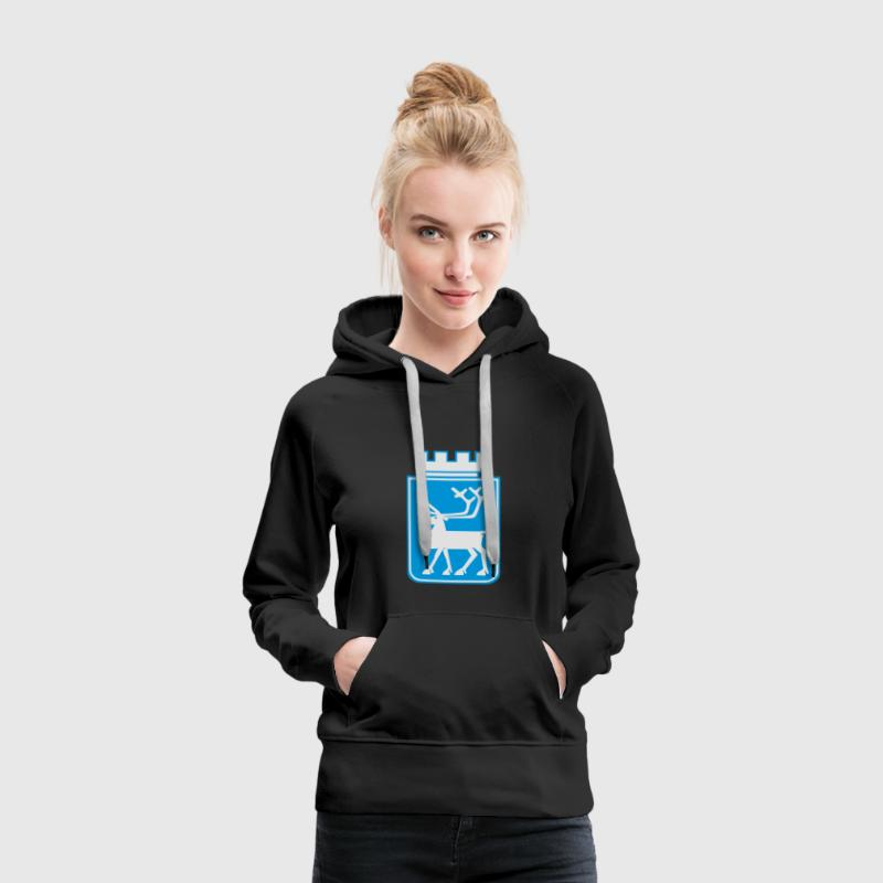 Coat of Arms of Tromso, Norway. Hoodies & Sweatshirts - Women's Premium Hoodie