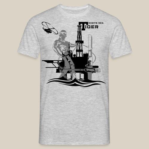 Oil Rig Oil Field North Sea Aberdeen Scotland T-Shirts - Men's T-Shirt