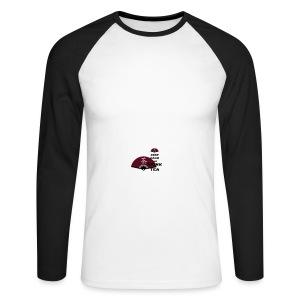 Tasse Keep Calm And Drink Tea - Männer Baseballshirt langarm