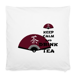 Tasse Keep Calm And Drink Tea - Kissenbezug 40 x 40 cm