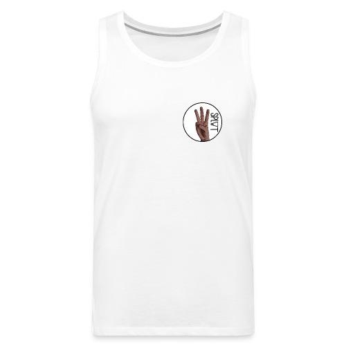 Plain Mens Split Skateboarding Small Logo T-Shirt - Men's Premium Tank Top