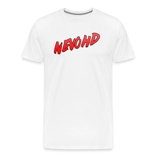 NevoHD Text Long Sleeved Baseball Tee - Men's Premium T-Shirt