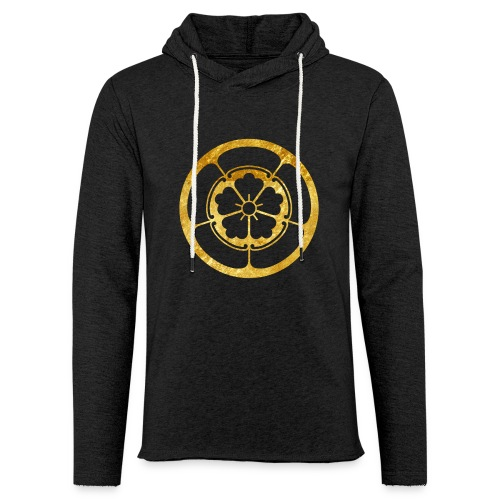 Oda Mon Japanese samurai clan gold on black - Light Unisex Sweatshirt Hoodie