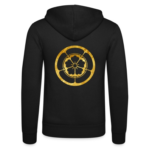 Oda Mon Japanese samurai clan gold on black - Unisex Hooded Jacket by Bella + Canvas