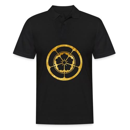 Oda Mon Japanese samurai clan gold on black - Men's Polo Shirt
