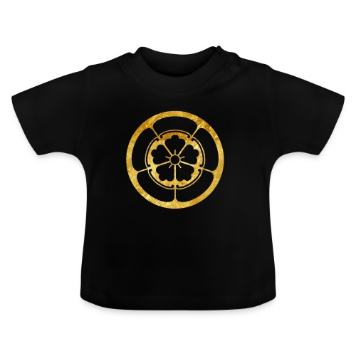 Oda Mon Japanese samurai clan gold on black - Baby T-Shirt