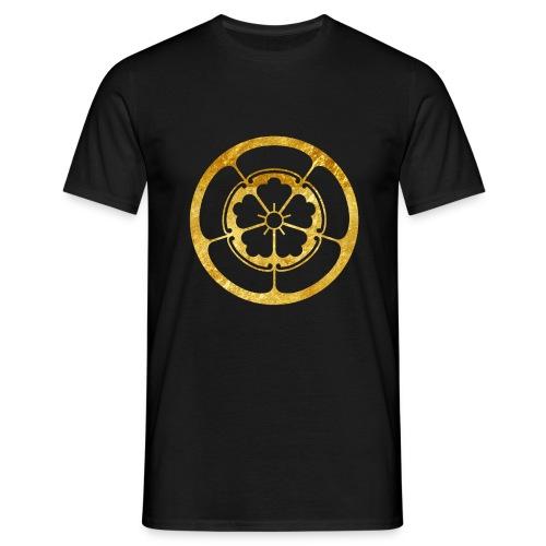 Oda Mon Japanese samurai clan gold on black - Men's T-Shirt