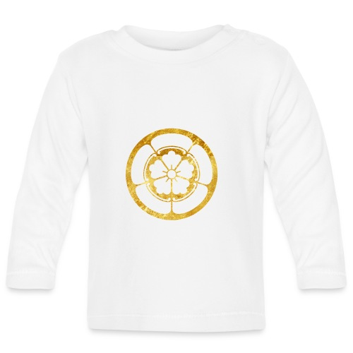 Oda Mon Japanese samurai clan gold on black - Baby Long Sleeve T-Shirt