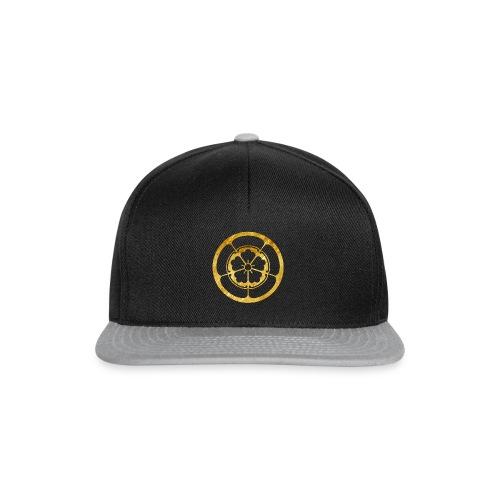 Oda Mon Japanese samurai clan gold on black - Snapback Cap