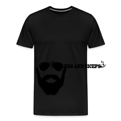 Beards And Biceps Viking Shorts - Men's Premium T-Shirt