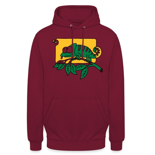 Chamaeleon und Fliege, Farbe, Urwald, Tier, lustig T-Shirts - Unisex Hoodie