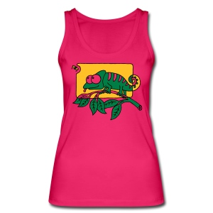Chamaeleon und Fliege, Farbe, Urwald, Tier, lustig T-Shirts - Frauen Bio Tank Top von Stanley & Stella