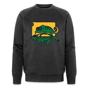 Chamaeleon und Fliege, Farbe, Urwald, Tier, lustig T-Shirts - Männer Bio-Sweatshirt von Stanley & Stella