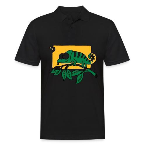 Chamaeleon und Fliege, Farbe, Urwald, Tier, lustig T-Shirts - Männer Poloshirt