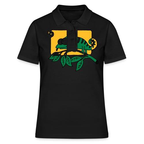 Chamaeleon und Fliege, Farbe, Urwald, Tier, lustig T-Shirts - Frauen Polo Shirt