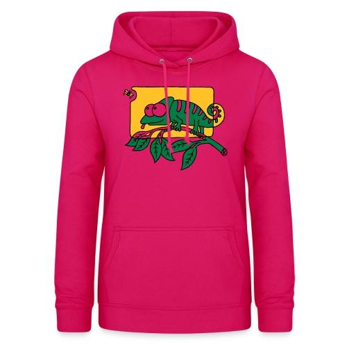 Chamaeleon und Fliege, Farbe, Urwald, Tier, lustig T-Shirts - Frauen Hoodie