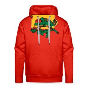 Chamaeleon und Fliege, Farbe, Urwald, Tier, lustig T-Shirts - Männer Premium Hoodie