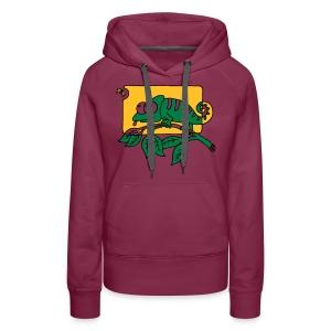 Chamaeleon und Fliege, Farbe, Urwald, Tier, lustig T-Shirts - Frauen Premium Hoodie