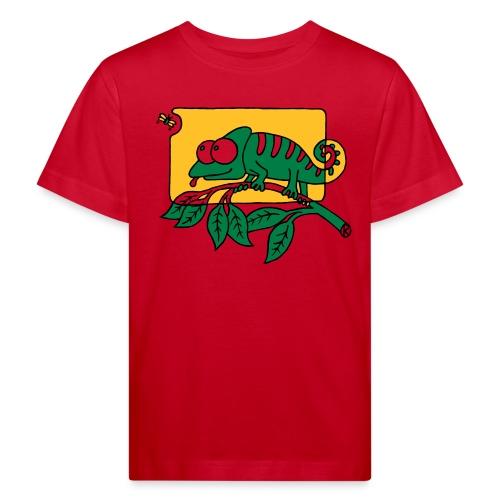 Chamaeleon und Fliege, Farbe, Urwald, Tier, lustig T-Shirts - Kinder Bio-T-Shirt