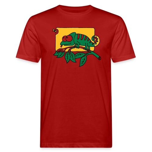Chamaeleon und Fliege, Farbe, Urwald, Tier, lustig T-Shirts - Männer Bio-T-Shirt