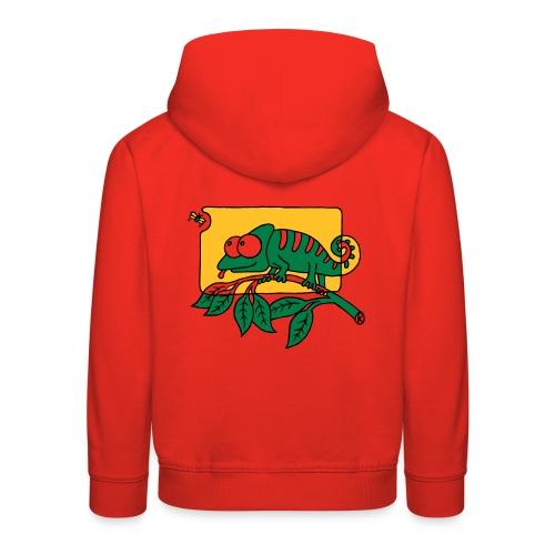 Chamaeleon und Fliege, Farbe, Urwald, Tier, lustig T-Shirts - Kinder Premium Hoodie