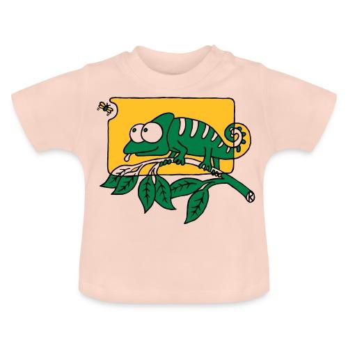 Chamaeleon und Fliege, Farbe, Urwald, Tier, lustig T-Shirts - Baby T-Shirt